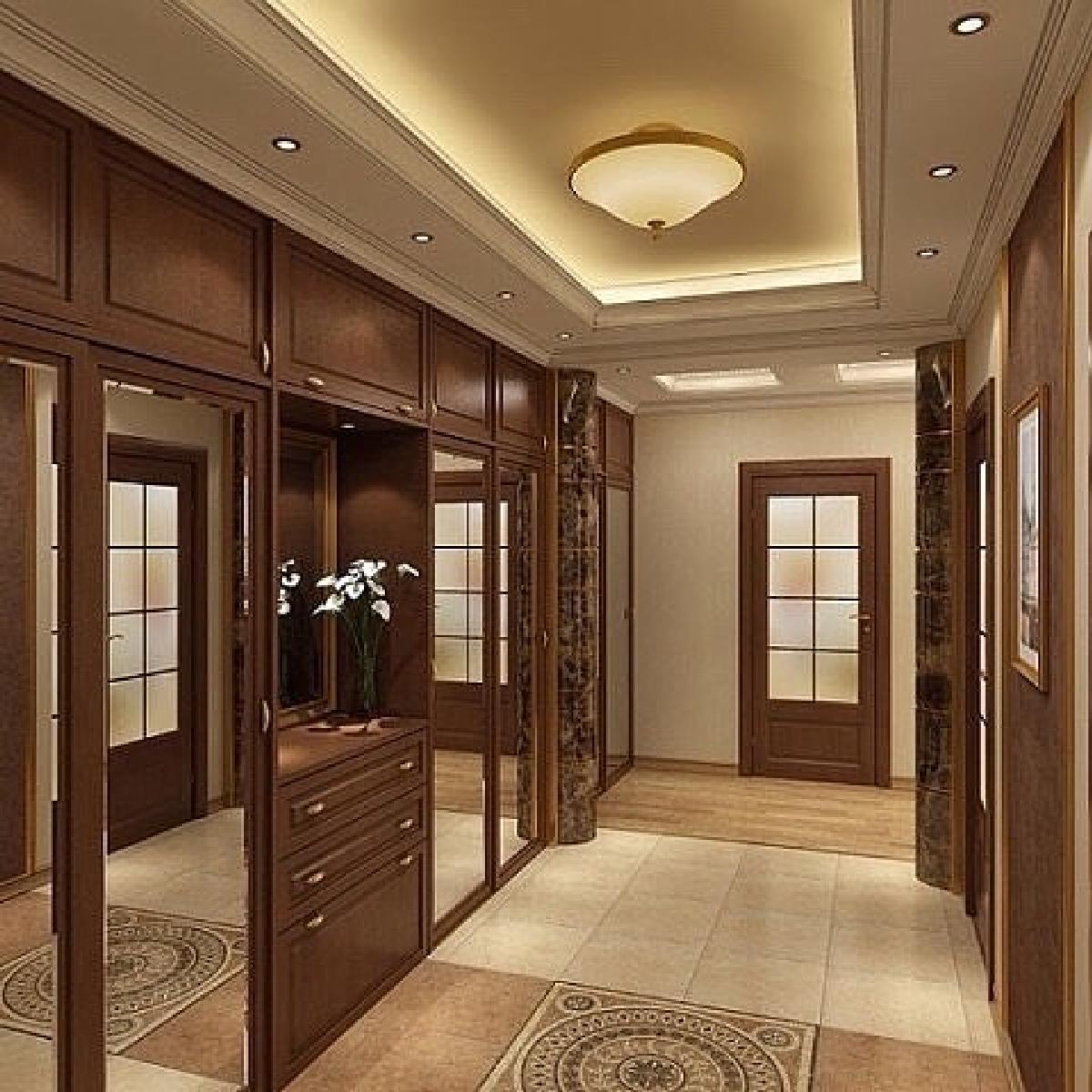 Дизайн прямоугольного коридора в квартире